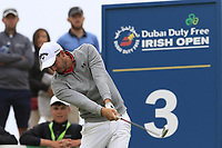 Matthew Nixon (ENG) tees off the 3rd tee during Saturday's Round 3 of the 2018 Dubai Duty Free Irish Open, held at Ballyliffin Golf Club, Ireland. 7th July 2018.<br /> Picture: Eoin Clarke | Golffile<br /> <br /> <br /> All photos usage must carry mandatory copyright credit (&copy; Golffile | Eoin Clarke)