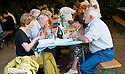 SAGRA DEL &quot;PESCE E PATATE&quot; 2011, BARGA, ITALY<br /> <br /> THE VISITORS ENJOY THEIR FISH AND CHIPS.