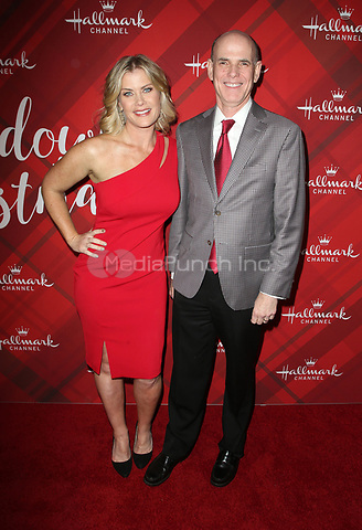 LOS ANGELES, CA - DECEMBER 4: Alison Sweeney, Bill Abbott, at Screening Of Hallmark Channel's 'Christmas At Holly Lodge' at The Grove in Los Angeles, California on December 4, 2017. Credit: Faye Sadou/MediaPunch