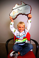 6-year-old BMX world champion Rico Bearman. BikeNZ/SPARC World Champions media session at Sparc Headquarters, Wellington, New Zealand on Wednesday, 2 December 2009. Photo: Dave Lintott / lintottphoto.co.nz