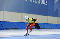 SCHAATSEN: SALT LAKE CITY: Utah Olympic Oval, 12-11-2013, Essent ISU World Cup, training, Wannes van Praet (BEL), ©foto Martin de Jong