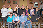 Sean Kerley Castleisland seated centre who is emigrating to Orlando, USA was given a fond farewell by his friends in the Kingdom House bar Castleisland on Friday night