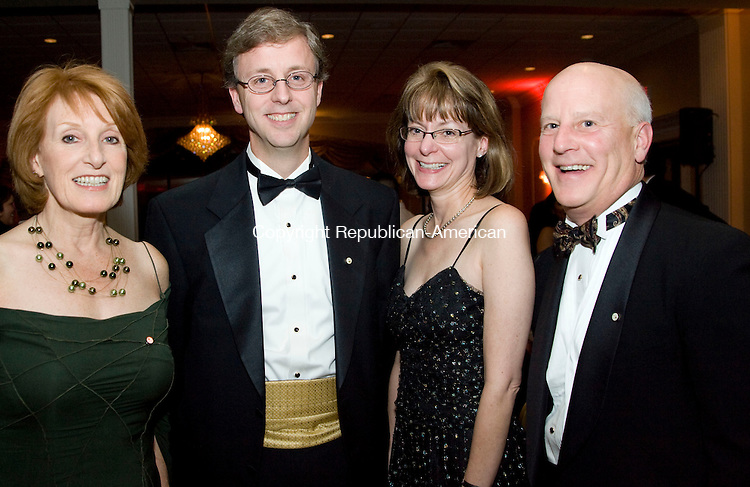 WATERBURY, CT - 22 NOVEMBER 2009 -112209JT10--<br /> From left, from Carmody &amp; Torrance, Trudie Hamilton with Brian Henebry, Ann Zucker and Chuck Stohler during the Waterbury Hospital Gala at the Villa Rosa in Waterbury on Saturday, Nov. 21.<br /> Josalee Thrift Republican-American