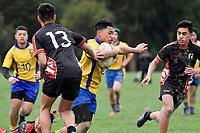 Hurricanes U15 Rugby - Manukura v Rongotai College at Trentham Memorial Park, Upper Hutt, New Zealand on Friday 7 September 2018.<br /> Photo by Masanori Udagawa. <br /> www.photowellington.photoshelter.com