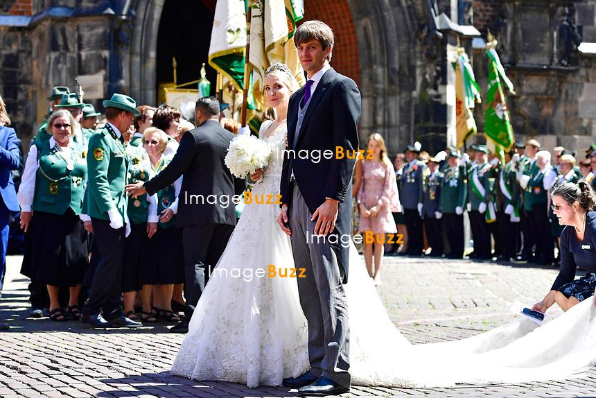 Mariage religieux du Prince Ernst junior de Hanovre et de Ekaterina Malysheva &agrave; l'&eacute;glise Markkirche &agrave; Hanovre.<br /> Allemagne, Hanovre, 8 juillet 2017.<br /> Religious wedding of Prince Ernst Junior of Hanover and Ekaterina Malysheva at the Markkirche church in Hanover.<br /> Germany, Hanover, 8 july 2017<br /> Pic :  Prince Ernst Junior of Hanover &amp; Ekaterina Malysheva