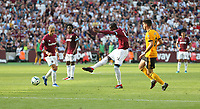 West Ham United's Pedro Obiang with a shot at goal<br /> <br /> Photographer Rob Newell/CameraSport<br /> <br /> The Premier League - West Ham United v Wolverhampton Wanderers - Saturday 1st September 2018 - London Stadium - London<br /> <br /> World Copyright © 2019 CameraSport. All rights reserved. 43 Linden Ave. Countesthorpe. Leicester. England. LE8 5PG - Tel: +44 (0) 116 277 4147 - admin@camerasport.com - www.camerasport.com