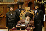 Israel, Bnei Brak. Hanukkah at the Premishlan congregation, the Rebbe and his Hasidim&amp;#xA;<br />