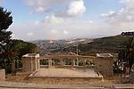Israel, Jerusalem, The Hebrew University campus on Mount Scopus, the amphitheatre overlooking the Judean Desert<br />