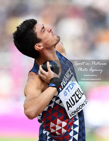 BastienAUZEIL (FRA) in the mens decathlon shot put. IAAF world athletics championships. London Olympic stadium. Queen Elizabeth Olympic park. Stratford. London. UK. 11/08/2017. ~ MANDATORY CREDIT Garry Bowden/SIPPA - NO UNAUTHORISED USE - +44 7837 394578