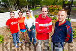 Pictured at Tralee Town Park on Friday launching the 10th annual Tralee Summer solstice 10k run, from left were: Jim McNeice, Bridhet Moore, Born to run, Marcus Howlett, Run the Kingdom, Michael O'Regan Winner 2014 and Joe O'Connor Winner 2005, 2006 and 2007.