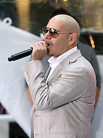 May 25, 2012 Pittbull performs during the soundcheck at NBC's Today Show Toyota Concert Series in New York City. © RW/MediaPunch Inc.