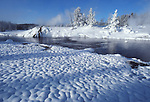 Firehole River in Upper Geyser Basin in December