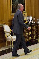 02.08.2012. Juan Carlos of Spain attends the audience with Mr. Mario Monti, President of the Council of Ministers of Italy, at the Palacio de la Zarzuela in Madrid. In the image King Juan Carlos I (Alterphotos/Marta Gonzalez) /NortePhoto.com<br /> <br />  **CREDITO*OBLIGATORIO** *No*Venta*A*Terceros*<br /> *No*Sale*So*third* ***No*Se*Permite*Hacer Archivo***No*Sale*So*third*