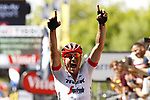 An emotional John Degenkolb (GER) Trek-Segaferdo wins Stage 9 of the 2018 Tour de France running 156.5km from Arras Citadelle to Roubaix, France. 15th July 2018. <br /> Picture: Trek/Luca Bettini/BettiniPhoto | Cyclefile<br /> All photos usage must carry mandatory copyright credit (&copy; Cyclefile | Trek/Luca Bettini/BettiniPhoto)