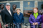 Unveiling of Wall of Remembrance for the The Ballykissane Tragedy Good Friday 1916 in Killorglin on Friday. Pictured l-r  Patrick Stack, 100 year old Catherine stack and Philomena O Hearne