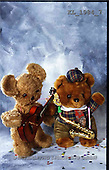Interlitho, Alberto, CUTE ANIMALS, teddies, photos, 2 teddies, music(KL1984/7,#AC#)