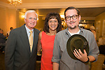 Naugatuck, CT- 05 October 2017-100517CM09-  From left, Wayne and Nancy Buckmiller of Naugatuck and Matt Yanarella with the Whittemore Library are photographed during an Oktoberfest fundraiser, to benefit the Whittemore Library at the Crystal Room in Naugatuck on Thursday.  Christopher Massa Republican-American