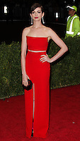 "NEW YORK CITY, NY, USA - MAY 05: Anne Hathaway at the ""Charles James: Beyond Fashion"" Costume Institute Gala held at the Metropolitan Museum of Art on May 5, 2014 in New York City, New York, United States. (Photo by Xavier Collin/Celebrity Monitor)"