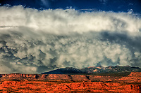 Mamata clouds, La Sal Mountains, Utah Manti-La Sal National Forest   Proposed La Sal Waters Wilderness