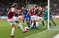 Burnley's Jeff Hendrick strikes from a corner kick but sees his effort stopped by Everton's Jordan Pickford<br /> <br /> Photographer Rich Linley/CameraSport<br /> <br /> The Premier League - Burnley v Everton - Saturday 5th October 2019 - Turf Moor - Burnley<br /> <br /> World Copyright © 2019 CameraSport. All rights reserved. 43 Linden Ave. Countesthorpe. Leicester. England. LE8 5PG - Tel: +44 (0) 116 277 4147 - admin@camerasport.com - www.camerasport.com