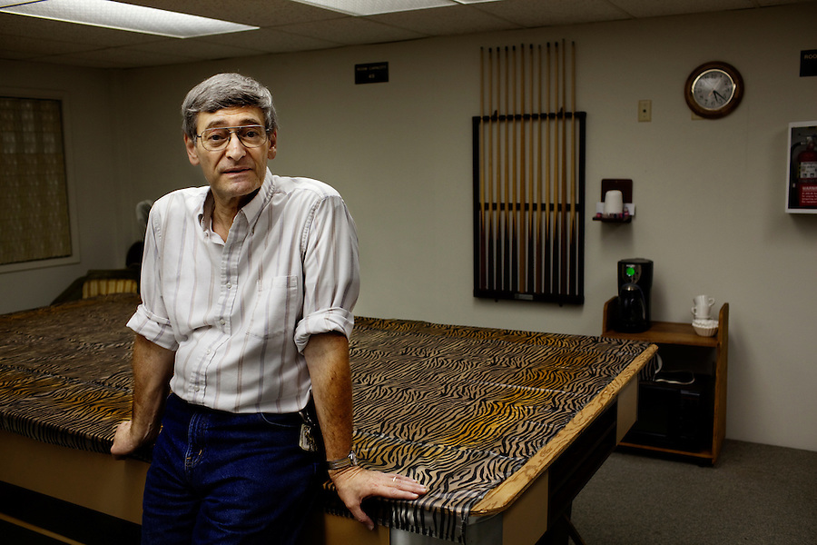 Laguna Woods, California, November 3, 2010 - Hal Horne, a member of Village Cannabis and husband to the president of the club, in their buildings community room in Laguna Woods Village, an 18,000 plus senior community. Village Cannabis Club is a sister organization to Laguna Woods Village for Medical Cannabis, a collective of about 100 members that operates as a dispensary for medical marijuana in the nearby senior community of Laguna Woods Village and its environs. The club serves as an organization that holds regular meetings to help educate the community to the benefits of marijuana. Hal says they often hold the meetings in this center. .