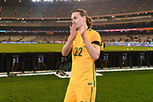 June 13th 2017, Melbourne Cricket Ground, Melbourne, Australia; International Football Friendly; Brazil versus Australia; Jackson Irvine of Australia thanking fans  after Australia lost 4-0 against Brazil