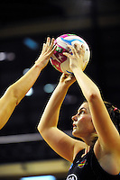 Ellen Halpenny in action during the ANZ Netball Championship match between the Central Pulse and Waikato Bay Of Plenty Magic at TSB Bank Arena, Wellington, New Zealand on Monday, 30 March 2015. Photo: Dave Lintott / lintottphoto.co.nz