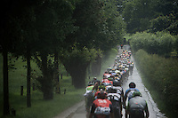 peloton in the rain<br /> <br /> stage 3: Buchten - Buchten (NLD/210km)<br /> 30th Ster ZLM Toer 2016
