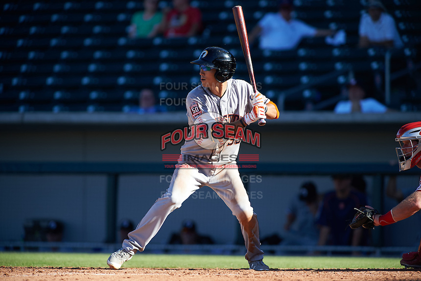 Glendale Desert Dogs shortstop Chan Jong Moon (39) at bat during an Arizona Fall League game against the Mesa Solar Sox on October 14, 2015 at Sloan Park in Mesa, Arizona.  Glendale defeated Mesa 7-6.  (Mike Janes/Four Seam Images)