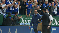 Leicester City chairman Aiyawatt Srivaddhanaprabha handing out shirts to supporters <br /> <br /> Photographer Hannah Fountain/CameraSport<br /> <br /> The Premier League - Leicester City v Chelsea - Sunday 12th May 2019 - King Power Stadium - Leicester<br /> <br /> World Copyright &copy; 2019 CameraSport. All rights reserved. 43 Linden Ave. Countesthorpe. Leicester. England. LE8 5PG - Tel: +44 (0) 116 277 4147 - admin@camerasport.com - www.camerasport.com