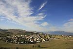 Israel, Upper Galilee, Circassian village Rehaniya, a view from road 886