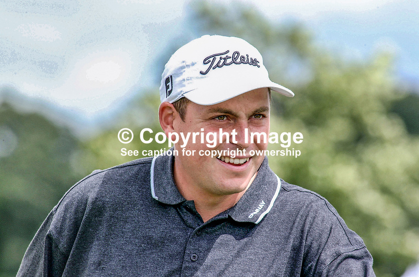 David Howell, professional golfer, England, UK. Ref: 2001062518. Taken at Murphy's Irish Open Golf event at Fota Island between 26 and 28 June 2001.<br /> <br /> Copyright Image from Victor Patterson, 54 Dorchester Park, <br /> Belfast, UK, BT9 6RJ<br /> <br /> t1: +44 28 9066 1296 (from Rep of Ireland 048 9066 1296)<br /> t2: +44 28 9002 2446 (from Rep of Ireland 048 9002 2446)<br /> m: +44 7802 353836<br /> <br /> e1: victorpatterson@me.com<br /> e2: victorpatterson@gmail.com<br /> www.victorpatterson.com<br /> <br /> Please see my Terms and Conditions of Use at www.victorpatterson.com. It is IMPORTANT that you familiarise yourself with them.<br /> <br /> Images used on the Internet must be visibly watermarked i.e. &copy; Victor Patterson<br /> within the body of the image and copyright metadata must not be deleted. Images <br /> used on the Internet have a size restriction of 4kbs and will be chargeable at current<br />  NUJ rates unless agreed otherwise.<br /> <br /> This image is only available for the use of the download recipient i.e. television station, newspaper, magazine, book publisher, etc, and must not be passed on to any third <br /> party. It is also downloaded on condition that each and every usage is notified within 7 days to victorpatterson@me.com<br /> <br /> The right of Victor Patterson to be identified as the author is asserted in accordance with The Copyright Designs And Patents Act (1988). All moral rights are asserted.
