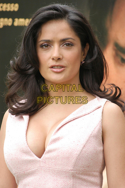 "SALMA HAYEK.Photocall for ""Ask The Dust"" at Casa Del Cinema, Rome, Italy..April 26th, 2006.Ref: CAV.headshot portrait pink cleavage.www.capitalpictures.com.sales@capitalpictures.com.© Capital Pictures."