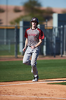 Kamren Backherms (13) of Elko High School in Elko, Nevada during the Baseball Factory All-America Pre-Season Tournament, powered by Under Armour, on January 13, 2018 at Sloan Park Complex in Mesa, Arizona.  (Zachary Lucy/Four Seam Images)