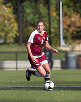 Florida State defender Kassey Kallman (9) at midfield.  Florida State University defeated Boston College, 1-0, at Newton Soccer Field, Newton, MA on October 31, 2010.