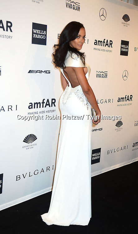 Selita Ebanks attends the amfAR New York Gala on February 5, 2014 at Cipriani Wall Street in New York City.