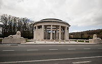 Empty roads along the WW1 Memorial in Ploegsteert on race day…<br /> <br /> Due to the international pandemic caused by the coronavirus COVID-19, the 82nd edition of Gent-Wevelgem in Flanders Fields (BEL/1.UWT), like all other Spring Classics in 2020, was cancelled which left the race roads (as the rest of the country in lockdown) eerily empty on race day…<br /> <br /> 1 day race from Ypres to Wevelgem (257km)<br /> <br /> ©kramon