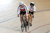 Sonya Barton (L) of Southland and Rachael Sardelich of Waikato BOP compete in the Masters Women 500m Team Pursuit at the Age Group Track National Championships, Avantidrome, Home of Cycling, Cambridge, New Zealand, Sunday, March 19, 2017. Mandatory Credit: © Dianne Manson/CyclingNZ  **NO ARCHIVING**