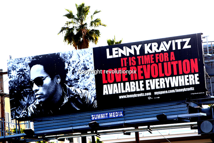 Lenny Kravitz Billboard..Los Angeles..April 2008..Lenny Kravitz Billboard on Sunset Boulevard in Hollywood..