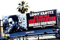 Lenny Kravitz Billboard..Los Angeles..April 2008..Lenny Kravitz Billboard on Sunset Boulevard in Hollywood..