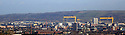 Belfast city skyline as of 16 Nov 2017.Belfast is Northern Ireland's capital. It was the birthplace of the RMS Titanic, which famously struck an iceberg and sunk in 1912. This legacy is recalled in the renovated dockyards' Titanic Quarter, which includes the Titanic Belfast, an aluminium-clad museum reminiscent of a ship's hull, as well as shipbuilder Harland & Wolff's Drawing Offices and the Titanic Slipways, which now host open-air concerts.