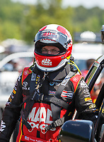 Jun 10, 2017; Englishtown , NJ, USA; NHRA top fuel driver Doug Kalitta during qualifying for the Summernationals at Old Bridge Township Raceway Park. Mandatory Credit: Mark J. Rebilas-USA TODAY Sports