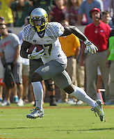 Oregon defensive back Terrance Mitchell (27) Oregon defeated Virginia 59-10 Saturday at Scott Stadium in Charlottesville, VA. Photo/Andrew Shurtleff