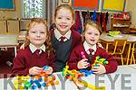 Anna Kate Daly, Claire Gleeson and Sarah Rose Daly first days in Junior infants in Knockaderry NS Farranfore.