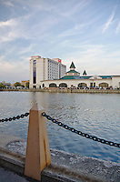 Harrah's Casino sits on the bank of the DesPlaines River in Joliet, Illinois
