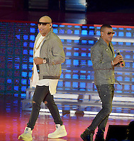 MIAMI, FL - OCTOBER 29: Gente de Zona performs at the Jennifer Lopez Gets Loud for Hillary Clinton at GOTV Concert in Miami at Bayfront Park Amphitheatre on October 29, 2016 in Miami, Florida. Credit: MPI10 / MediaPunch