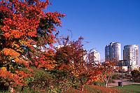 Yaletown, Vancouver, BC, British Columbia, Canada - High Rise Apartment and Condominium Buildings in City, Autumn