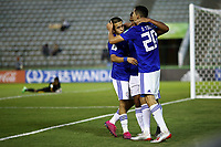 31st October 2019; Bezerrao Stadium, Brasilia, Distrito Federal, Brazil; FIFA U-17 World Cup Brazil 2019, Solomon Islands versus Paraguay; Diego Torres of Paraguay celebrates his goal with Matias Segovia in the 65th minute for 0-3 - Editorial Use