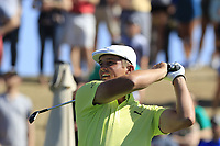 Bryson DeChambeau (USA) tees off the 6th tee during Saturday's Round 3 of the Waste Management Phoenix Open 2018 held on the TPC Scottsdale Stadium Course, Scottsdale, Arizona, USA. 3rd February 2018.<br /> Picture: Eoin Clarke | Golffile<br /> <br /> <br /> All photos usage must carry mandatory copyright credit (&copy; Golffile | Eoin Clarke)