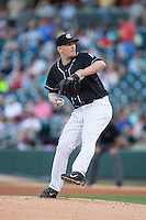 Charlotte Knights starting pitcher Erik Johnson (39) in action against the Lehigh Valley IronPigs at BB&T BallPark on May 30, 2015 in Charlotte, North Carolina.  The IronPigs defeated the Knights 1-0.  (Brian Westerholt/Four Seam Images)